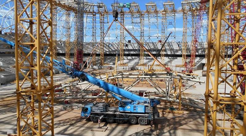 Стадион «Мордовия Арена» получил последний блок купола