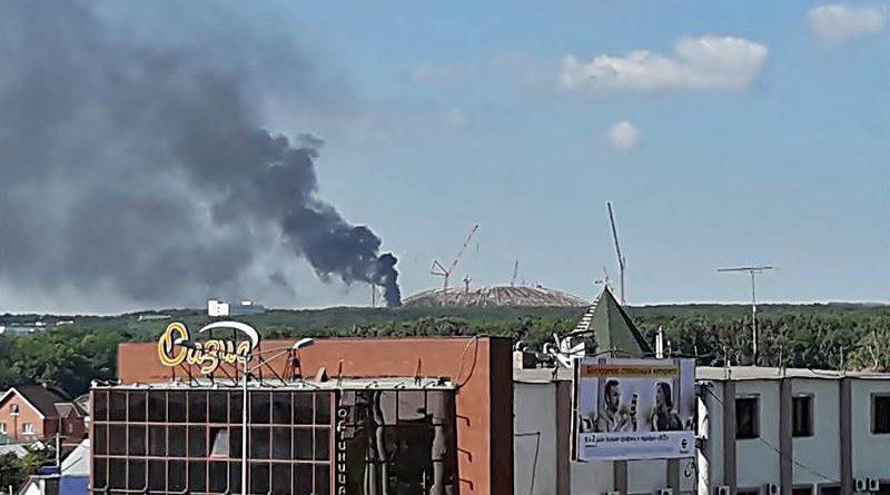 """Пожар на стадионе """"Самара Арена"""""""