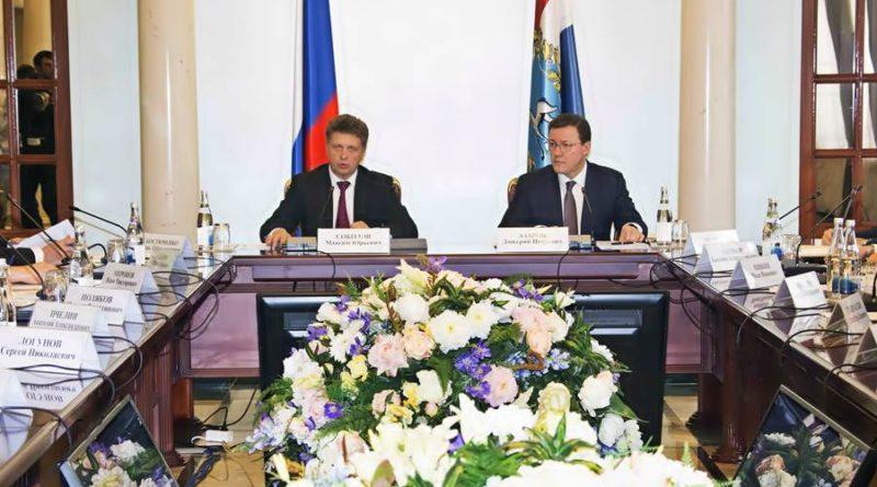 Министр транспорта РФ Максим Соколов в Самаре