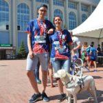 Организаторы забега хотели снять с дистанции незрячую спортсменку